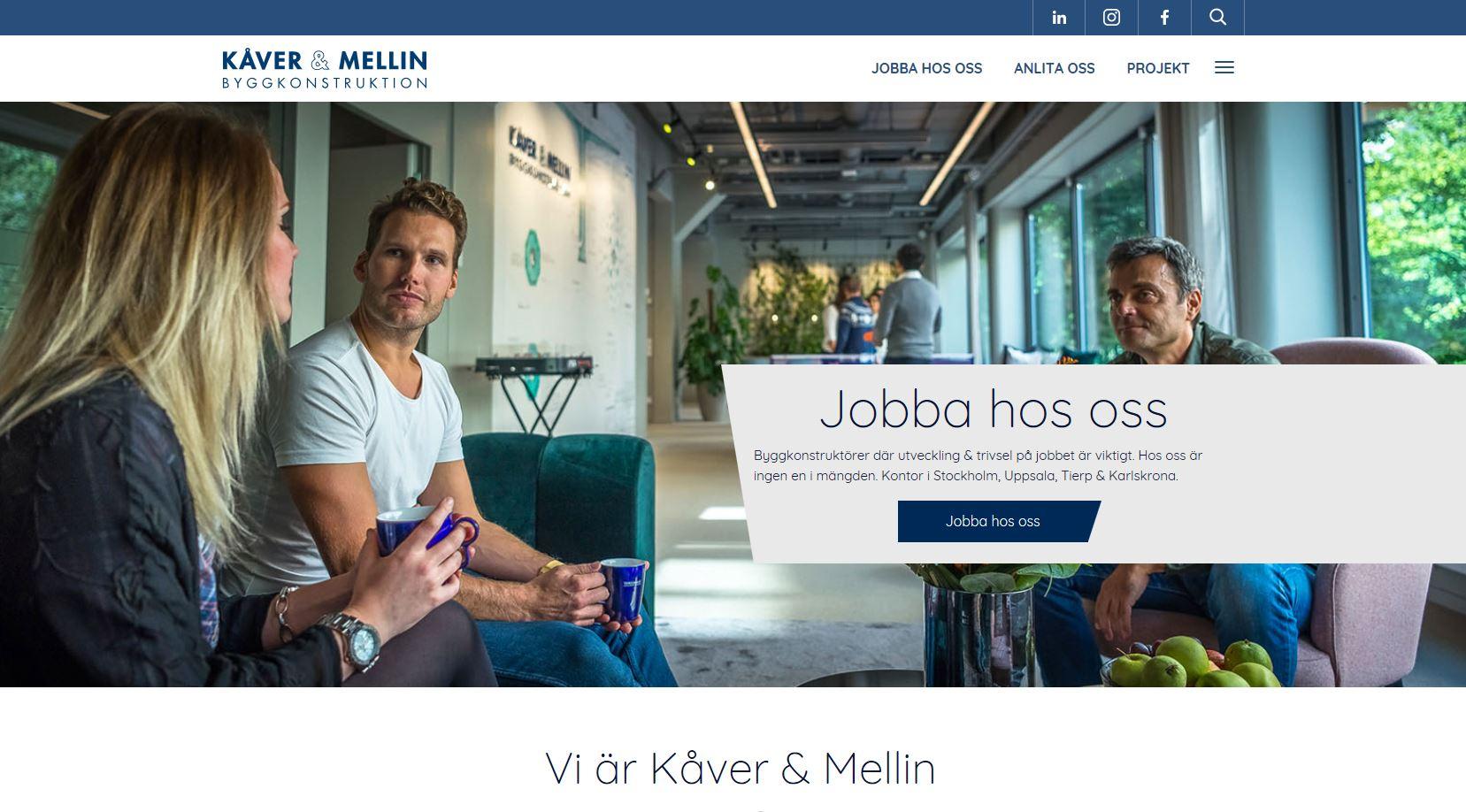 Kåver & Mellins nya hemsida.